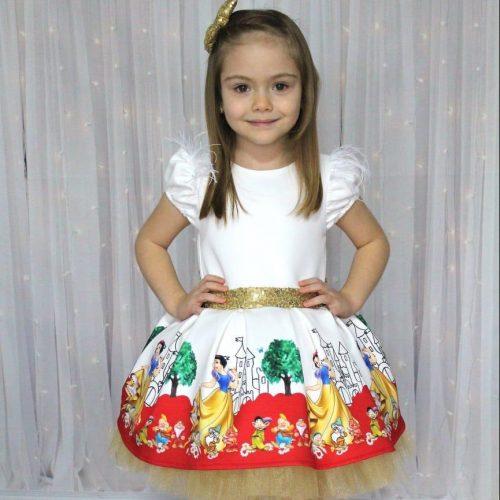 Snow White Kids Dress فستان بناتي kız elbise