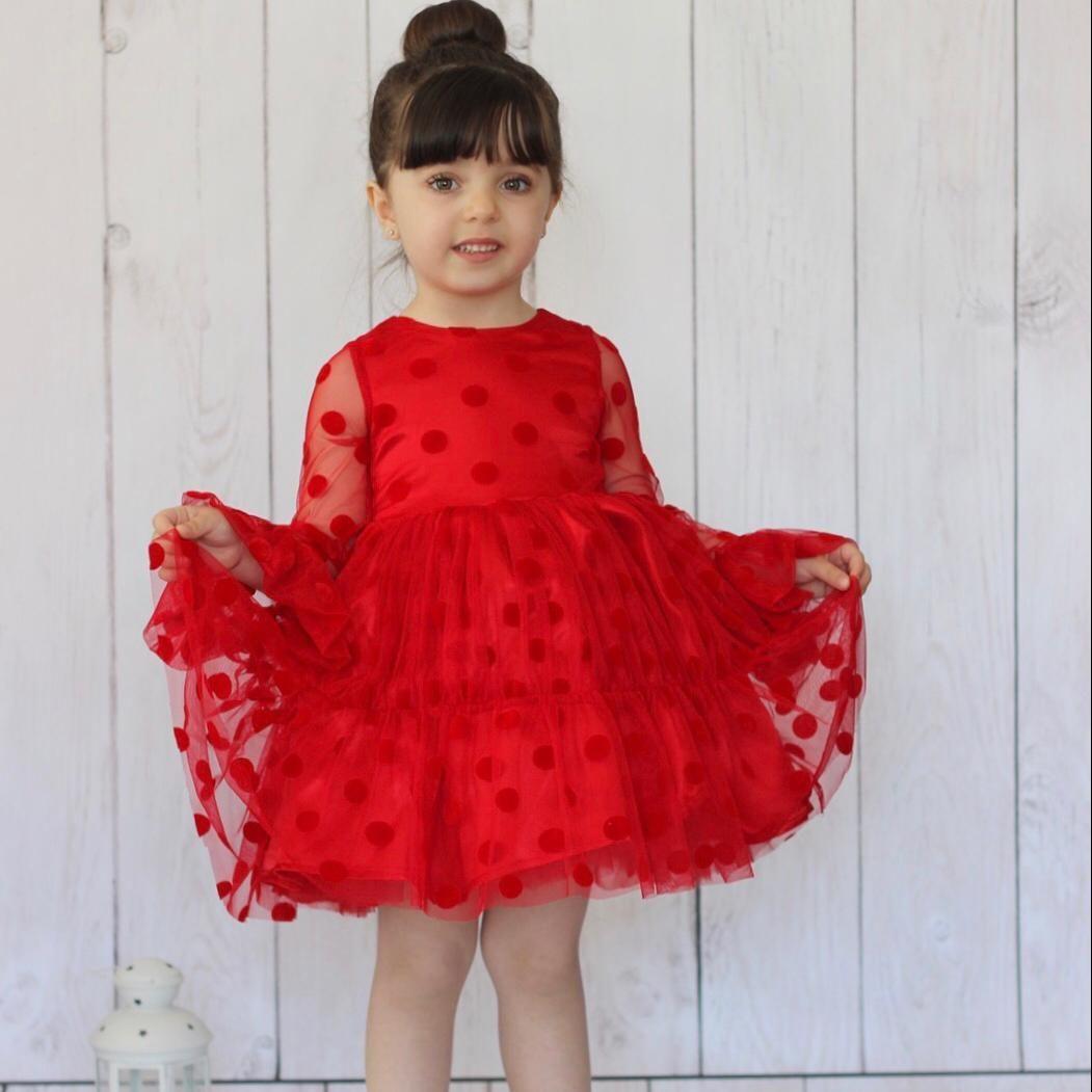 Chiffon Kids Dress فستان بناتي kız elbise